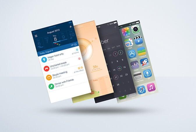 5E model - mobile app screen